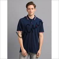 Men Navy with White Polo T-Shirt