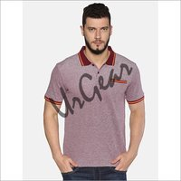 UrGear Solid Men Polo Neck Maroon T-Shirt