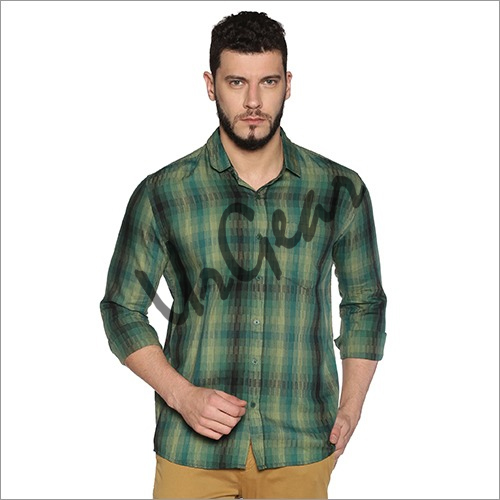UrGear Mens Slim Fit Cotton Checked Shirt