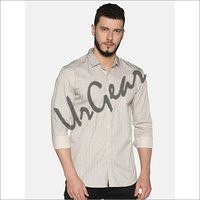 UrGear Mens Slim Fit Cotton Solid Shirt
