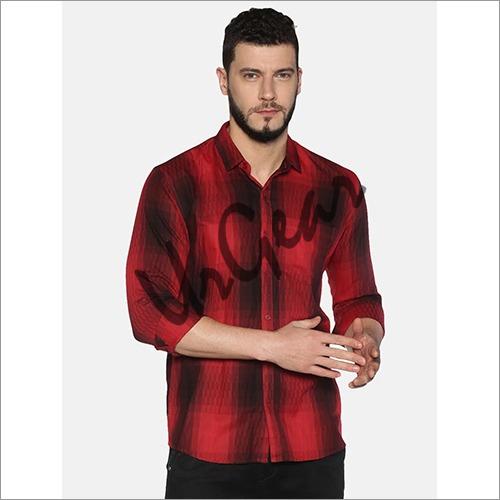 UrGear Mens Slim Fit Cotton Checked Shirt