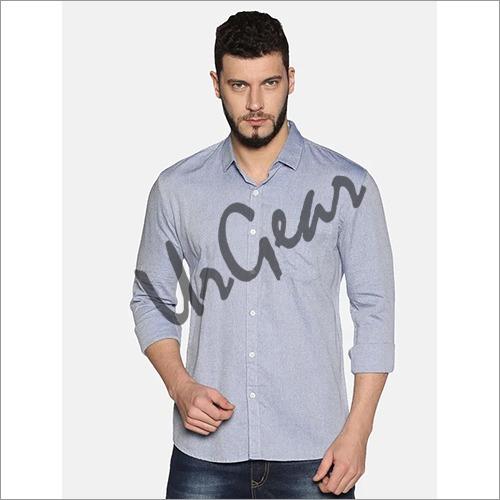 UrGear Mens Slim Fit Cotton Solid Shirt
