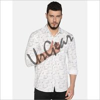 UrGear Mens Slim Fit Cotton Printed Shirt