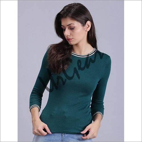 UrGear Solid Women Round Neck Green T-Shirt