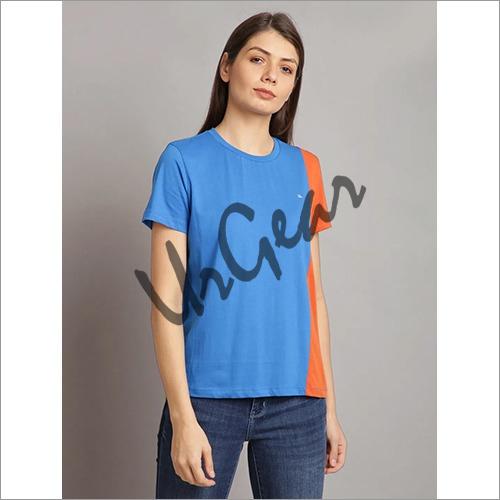 UrGear Solid Women Round Neck Light Blue T-Shirt