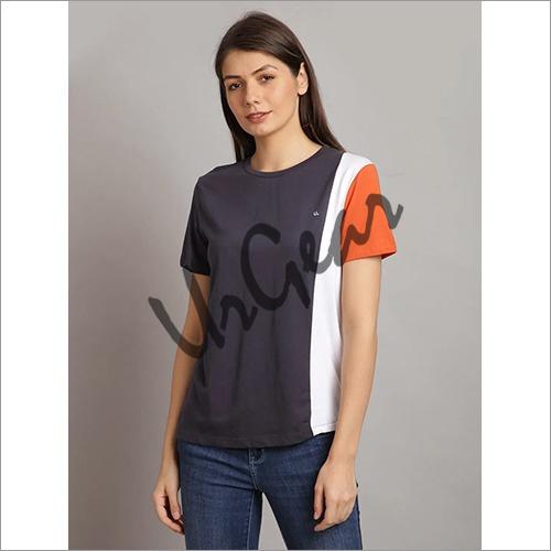 UrGear Solid Women Round Neck Grey T-Shirt