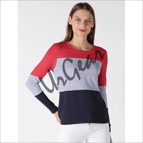 UrGear Color Block Women Round Neck Multicolor T-Shirt