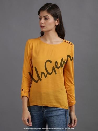 Women Yellow Top
