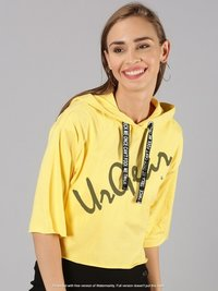 UrGear Casual 3-4 Sleeve Solid Women Yellow Top