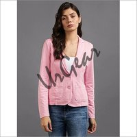 Women Pink Solid Jacket