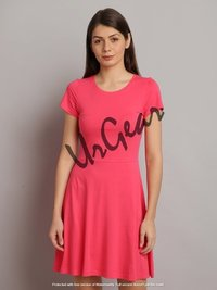 UrGear Women Drop Waist Pink Dress