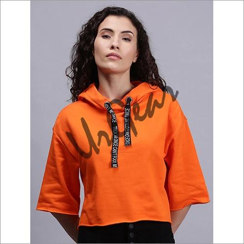 Women Hoodie T-Shirt Orange
