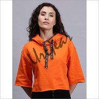 Women Hoodie T-Shirt Orange