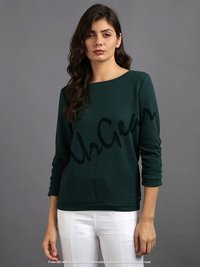 Women Solid Olive Top