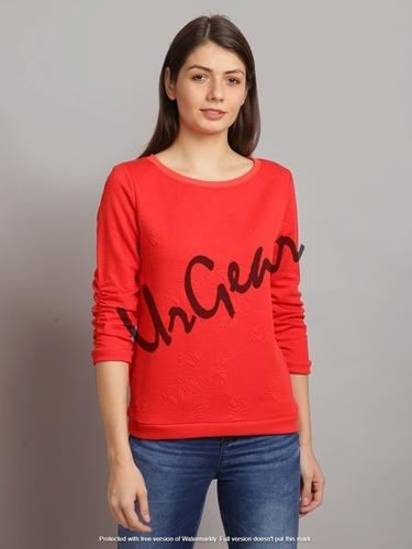 UrGear Full Sleeve Self Design Women Sweatshirt
