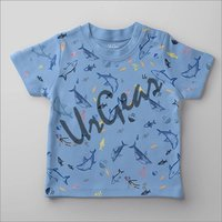 Kids Printed Dolphine T-Shirt