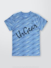 Kids Printed Blue Line T-Shirt