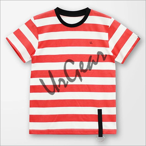 Kids Striped Red T-Shirt
