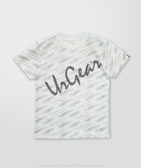 Kids Printed White Line T-Shirt