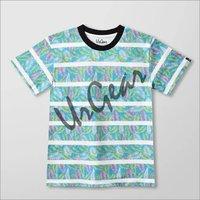Kids Floral Print Striped T-Shirt