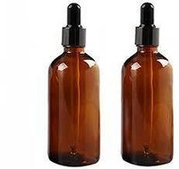 100ml Round Amber Glass Essential Oil Bottle / Rubber Dropper
