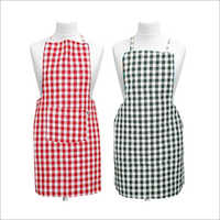 Cotton Check Kitchen Apron