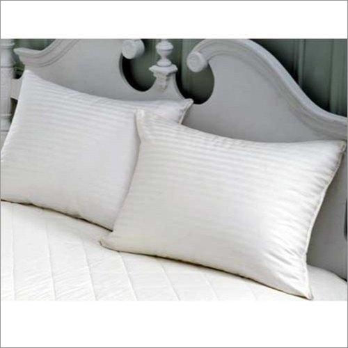 White Satin Stripe Hotel Bed Sheet