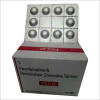 Fexofenadine and Montelukast Chewable Tablets