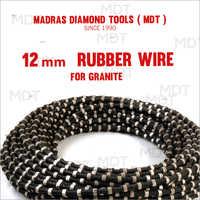 12 Mm Rubber Wire For Granite