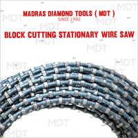 Block Cutting Diamond Wire Saw