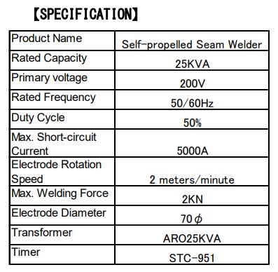 Self propelled Seam Welder
