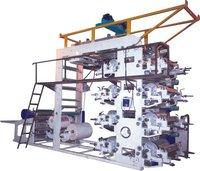 HDPE Bag Eight Colour Flexographic Printing Machine