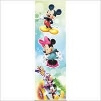Mickey Mouse Print Door
