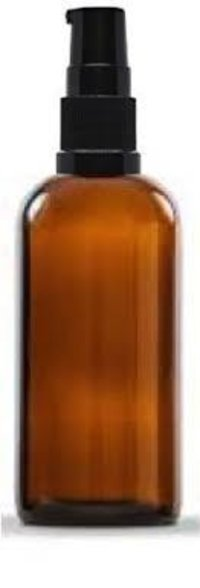 100ml Lotion Pump Amber Glass Bottle For Cosmetics