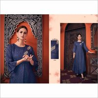 Designer Blue Color Party Wear Fashionable Gown