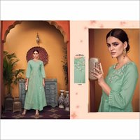 Jacquard Double Viscose Party Wear Gown