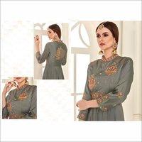 Pure Soft Taffeta Silk Fabric Party Wear Gown