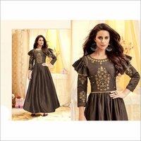 Pure Tapeta Satin Designer Party Wear Gown