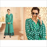 Maslin Digital Print Designer Gown Dress