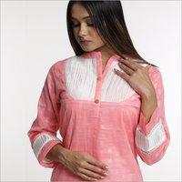 Premium Weaving Cotton Top With Premium Lycra Bottom Set