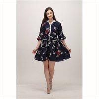 Premium Crepe Fabric One Piece Western Dress