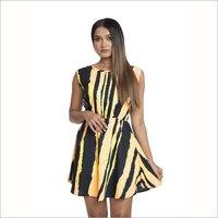 Premium Crepe Fabric Die Print Western Dress