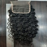 Swiss lace curly closure,Natural hair