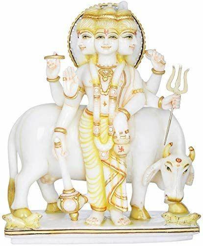 Marble Dattatreya Statue