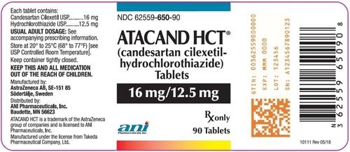 Candesartan Cilexetil and Hydrochlorothiazide Tablets