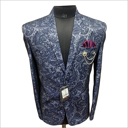 Mens Netted Printed Blue Color Imported Blazer