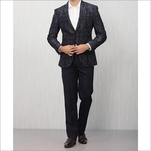 Mens Distinctive Blue Patterned Blazer