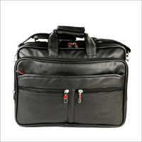 Black Leatherette Fabric Office Laptop Bags