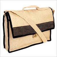 Jute Fabric Office Laptop Bags