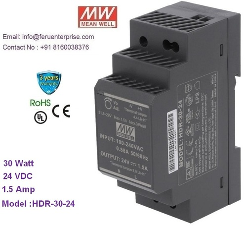 HDR-30-24 Meanwell SMPS Power Supply